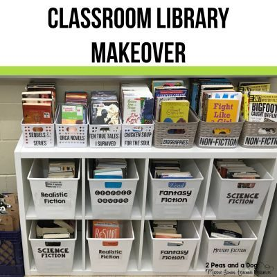 Classroom libraries can always benefit from renovation. Read this informative blog post on how to renovate, and make over your classroom library on a budget from the 2 Peas and a Dog blog.