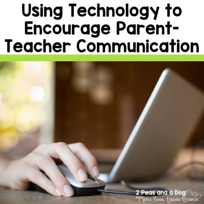 4 practical ideas for using technology to encourage parent-teacher communication from the 2 Peas and Dog blog.