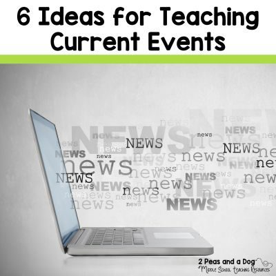 6 Ideas for Teaching Current Events - 2 Peas and a Dog. It is important that students are exposed to current content in our programs no matter what subject area or grade we teach. In this blog post you will find 6 easy to implement ideas for teaching current events in your classroom.