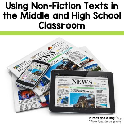 Students need to be exposed to a variety of fiction and non-fiction texts during their educational careers. It is important that teachers select high quality and engaging non-fiction pieces to compliment any fiction works covered in class. Read this informative blog post from 2 Peas and a Dog to get ideas from other teachers about how they find and use non-fiction in their classrooms.