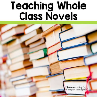 Teaching whole class novels is still important. In today's teaching pedagogy, many teachers are abandoning whole class novels for small group novel studies, but whole class novels are still beneficial for today's students. Click to read about novel selection and engaging assignments you can use in your classroom tomorrow from the 2 Peas and a Dog blog.