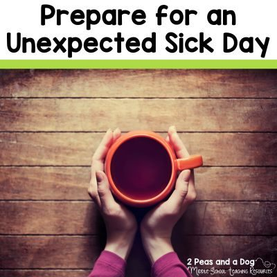 Top 3 tips for preparing for an unexpected sick day from the 2 Peas and a Dog blog.