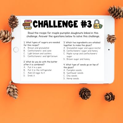 """Fall Digital Escape Room: This fall-themed digital escape room provides students with the opportunity to work independently or with their peers to solve 10 fall-related challenges. Students must solve these required challenges to """"escape"""" from the gym storage room that they have accidentally locked themselves into."""