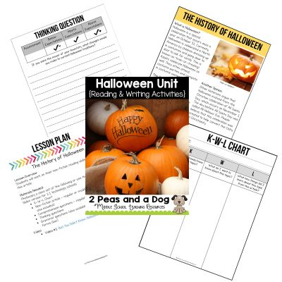 In this Halloween Unit, students will work through five different activities that will help reinforce students' reading, writing, and speaking skills.