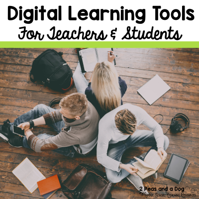Learn about three great digital learning technology tools to help make your lessons more engaging for students. #technology #edtech
