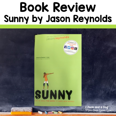 Check out this book review on Sunny by Jason Reynolds from 2 Peas and a Dog. #yalit #languagearts #reading #2peasandadog