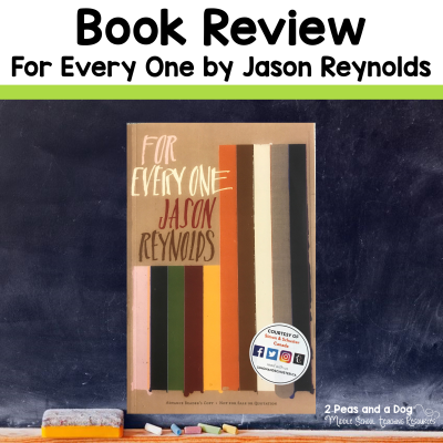 Check out this book review on For Everyone by Jason Reynolds from 2 Peas and a Dog. #yalit #languagearts #reading #2peasandadog