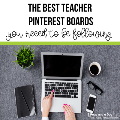 The best teacher Pinterest boards to follow from 2 Peas and a Dog. #teachers #teacherpinterest