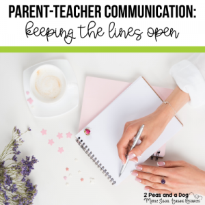 It is important to keep in contact with parents through out the school year. Check out the amazing examples of parent-teacher communication ideas from 2 Peas and a Dog. #classroommanagement #parentcontact #newteachers