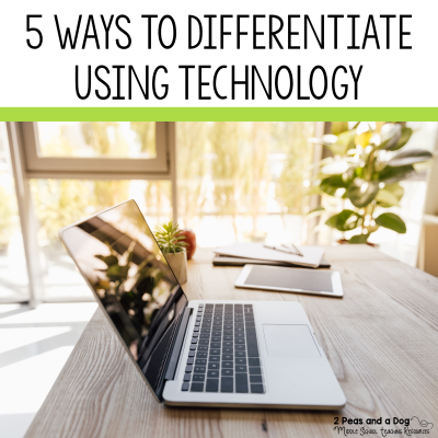 Differentiation is key to ensuring our students are successful. With all of the technology many of our students have access to, it's important that we utilize these tools to our benefit. Read 5 Ways to Differentiate Using Technology from 2 Peas and a Dog. #differentiation #edtech #specialeducation