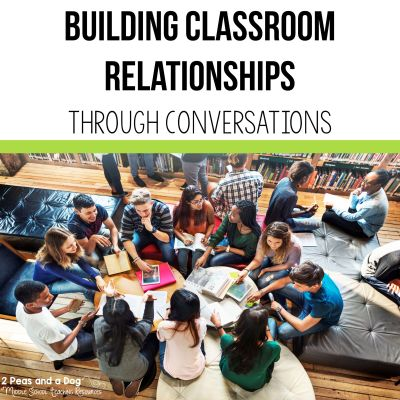 Building classroom relationships through conversations is an important strategy that teachers can use in their classrooms. Giving students a voice in the classroom can help with classroom management and student motivation. Read more in this blog post on the 2 Peas and a Dog website. #classroom #management #classroommanagement #classsroomcommunity