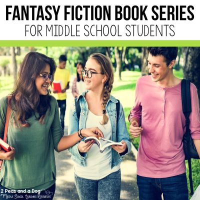 9 engaging fantasy fiction book series for middle school students from 2 Peas and a Dog. #reading #middleschool #fantasyfiction #independentreading