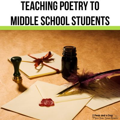Teaching poetry to middle school students does not have to be difficult. Check out these 2 teaching strategies that make poetry accessible. #poetry #middleschoolela #englishlanguagearts #poetrylessons