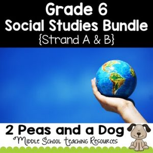 Grade 6 Ontario Social Studies Bundle Strand A and B