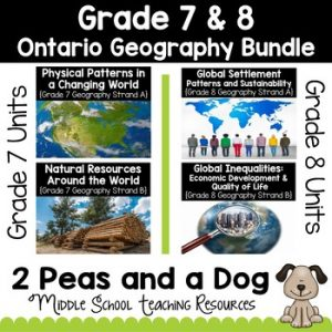 Grade 7 and 8 Ontario Curriculum Geography Bundle