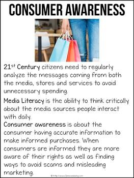 Media Literacy Bundle 10 Consumer Awareness Lessons