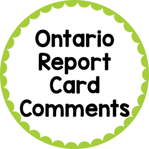 Ontario Report Card Comments