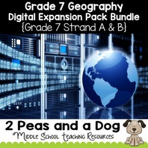 Grade 7 Geography Digital Expansion Pack Bundle