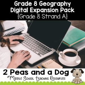 Grade 8 Geography Strand A Digital Expansion Pack