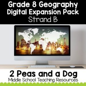 Grade 8 Geography Strand B Digital Expansion Pack