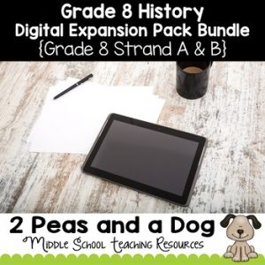 Grade 8 History Digital Expansion Pack Bundle