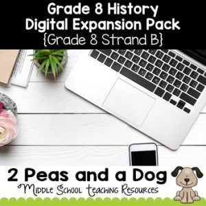 Grade 8 History Strand B Digital Expansion Pack