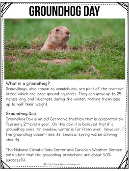 Groundhog Day Non-Fiction Article