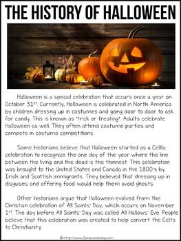 Halloween Non-Fiction Article