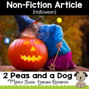 Halloween Non-Fiction Article