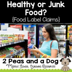 Health Lesson: Consumer Awareness Lesson - Healthy or Junk Food?