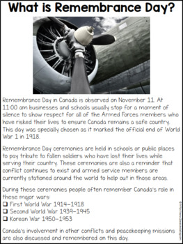 Remembrance Day Unit