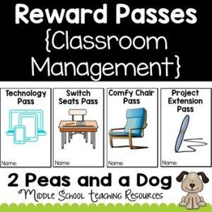 Reward Coupons, Reward Passes for Classroom Management