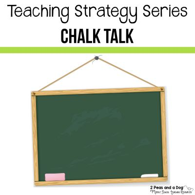 Use the chalk talk teaching strategy to get your whole class sharing their ideas.