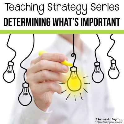 Students find determining what's important challenging. Use this strategy to increase their confidence.