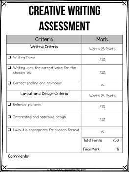 Summer Creative Writing Assignment