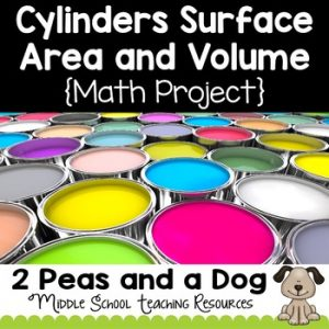 Cylinders Surface Area and Volume Project