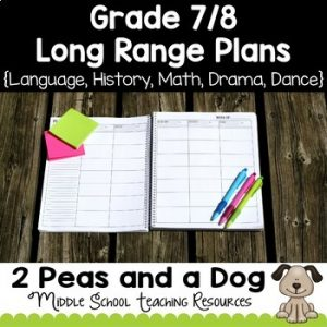 Grade 7/8 Long Range Plans Ontario Curriculum