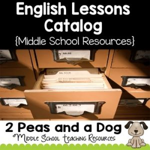 Middle School English Lesson Plan Catalog