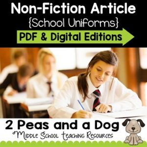 School Uniforms Non-Fiction Article