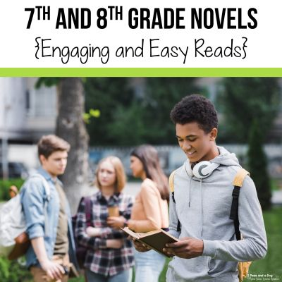 Use this list to find engaging books for 7th and 8th grade students. Great books for 12 and 13 year olds from 2 Peas and a Dog.