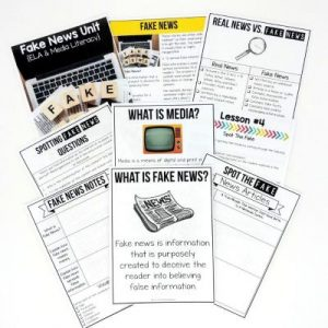 This Fake News Unit contains 5 high-interest lessons to help students understand what fake news is and how to spot it. This resource contains individual PDFs of student pages to assist with online learning i.e. Google Classroom™ as well as Google Slides™ formatted lessons for 1:1 schools. Use this unit for April lesson plans for middle school ela.
