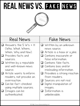 Fake News Unit PDF and Digital Editions | Distance Learning