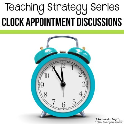 The clock appointments teaching strategy is a great teaching technique to get students sharing their ideas with a variety of classmates. This teaching strategy is perfect to use at the start of the year to encourage students to meet new peers and not always work with the same group of students.