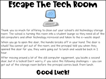 Back to School Digital Escape Room | Distance Learning