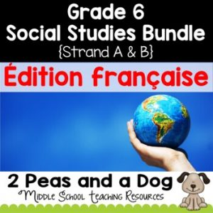 Grade 6 Ontario Social Studies Bundle Strand A and B FRENCH