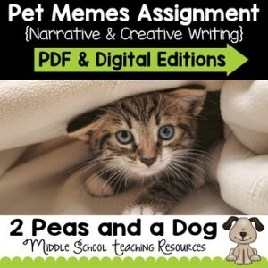 Pet Memes Narrative Writing Assignment | Distance Learning