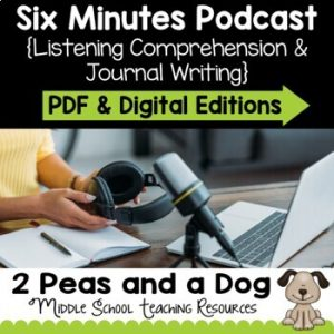 Six Minutes Podcast Comprehension Questions Episodes 1 - 10 | Distance Learning