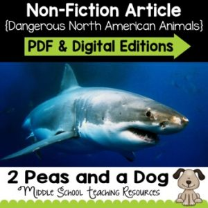 Dangerous North American Animals Non-Fiction Article