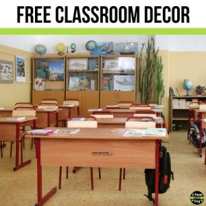 Free classroom decor ideas for middle school classrooms from 2 Peas and a Dog.