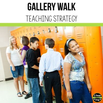 Using the Gallary Walk teaching strategy is a great way to get students engaged and actively participating in a lesson.
